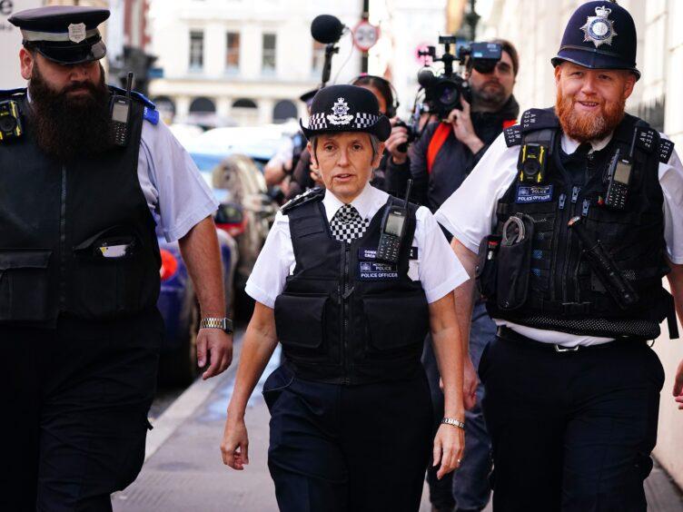 Metropolitan Police Commissioner Dame Cressida Dick (Victoria Jones/PA)