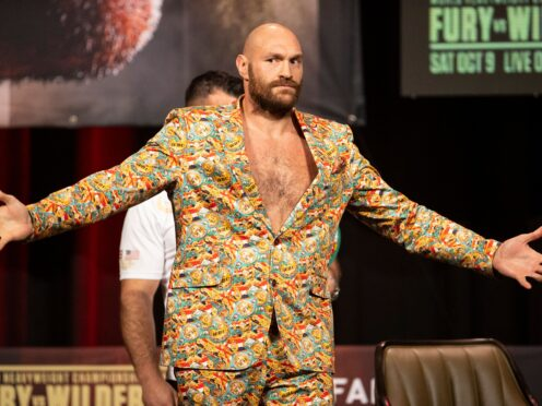Tyson Fury is unfazed at the chaotic build-up to his fight with Deontay Wilder (Erik Verduzco/AP/PA)
