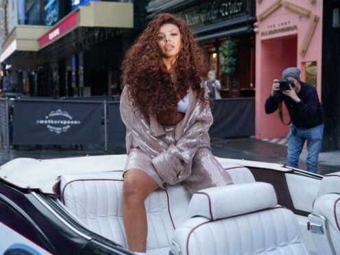 Jesy Nelson arrives at Global's studios in Leicester Square, London, to support the Make Some Noise Day (Yui Mok/PA)