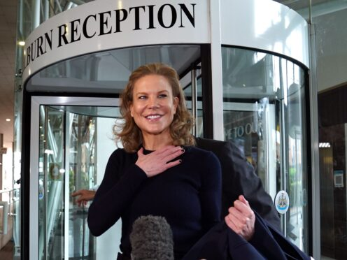 Amanda Staveley arrives at St James' Park after completing her takeover at Newcastle (Owen Humphreys/PA)