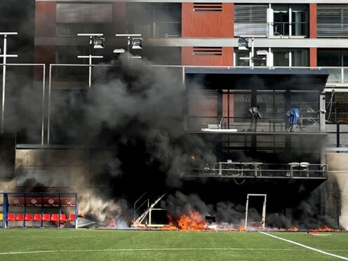 A fire broke out at the stadium on the eve of the match (Simon Peach/PA)