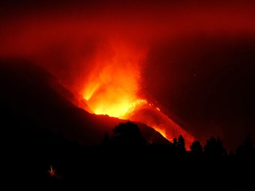 The volcanic eruption is threatening more homes (Daniel Roca/AP)