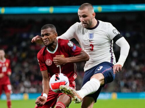 Luke Shaw insists England will come back better next month after a poor performance against Hungary (Kirsty Wigglesworth/AP)