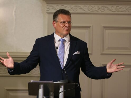 """European Commission vice president Maros Sefcovic who has promised the measures will be """"very far-reaching"""" and address issues over the movement of agri-food goods and medicines across the Irish Sea (Brian Lawless/PA)"""