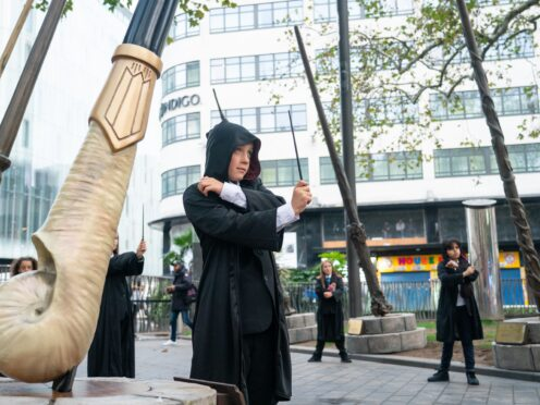 The wands have been installed in London's Leicester Square (Dominic Lipinski/PA)