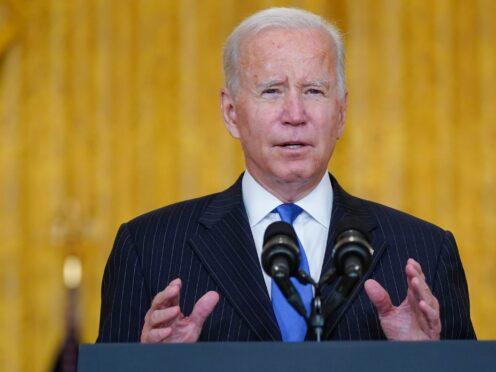 President Joe Biden delivers remarks (Evan Vucci/AP)