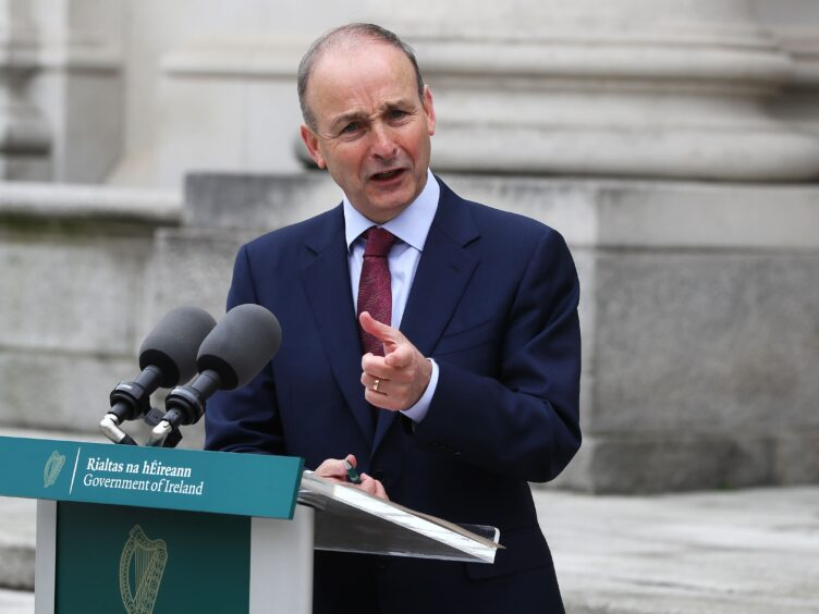 Taoiseach Micheal Martin paid tribute to European Commission vice-president Maros Sefcovic for how he and the European Commission has handled post-Brexit issues (PA)
