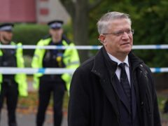 Andrew Rosindell at the scene near Belfairs Methodist Church (Kirsty O'Connor/PA)