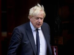 Prime Minister Boris Johnson departs 10 Downing Street, Westminster, London, to attend Prime Minister's Questions at the Houses of Parliament. Picture date: Wednesday October 20, 2021 (Stefan Rousseau/PA)