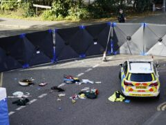 The scene at Regency Court in Brentwood, Essex, where two teenage boys died in the early hours of Sunday morning (Aaron Chown/PA)