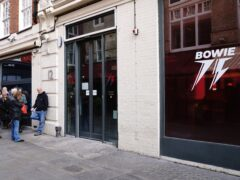 David Bowie pop-up shop (Jonathan Brady/PA)