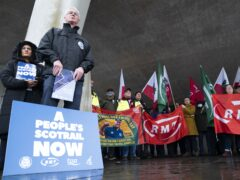 Scotland's rail unions have launched a 'vision for Scotland's railways' (Jane Barlow/PA)
