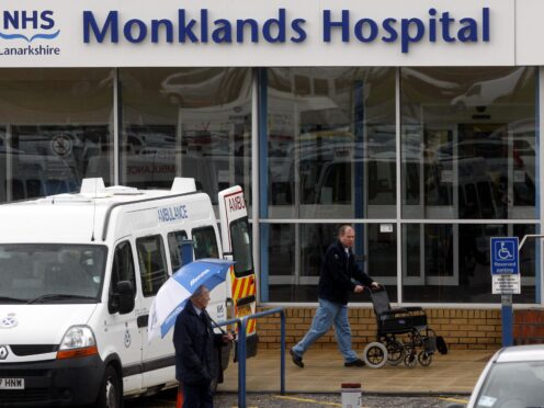 He was treated at Monklands Hospital (Danny Lawson/PA)