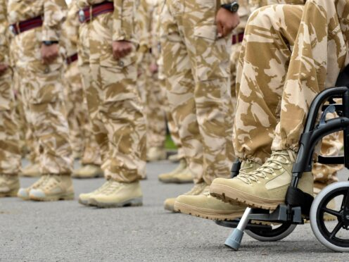 A Help for Heroes poll showed that 73% of veterans with permanent health conditions struggle with their mental wellbeing (Ben Birchall/PA)