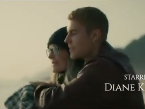 Diane Keaton plays a grieving widow in the music video for Justin Bieber's latest single Ghost (Def Jam Recordings/PA)