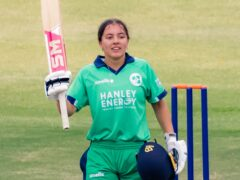 Amy Hunter is the youngest ever player to score a century in a one-day international (Cricket Ireland Handout/PA)