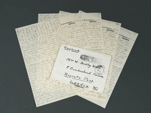 A love letter sent from Edward VIII to his married mistress Freda Dudley Ward is to be sold at auction. (Cheffins/ PA)