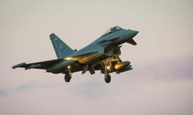 RAF Lossiemouth jet diverts to Aberdeen following 'technical issue'