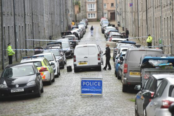 Aberdeen street cordoned off after woman allegedly sexually assaulted in early hours of morning