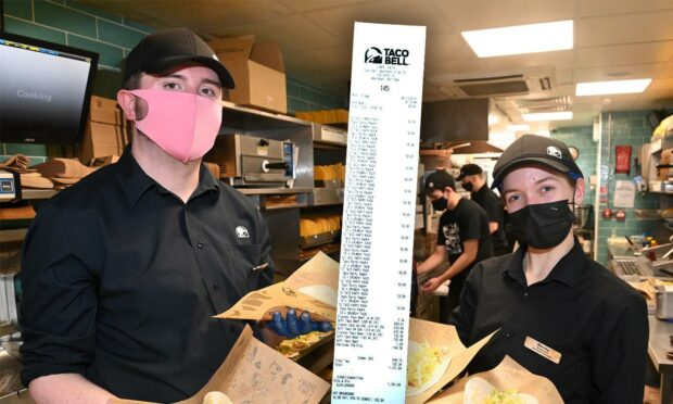 Is this the biggest Taco Bell order in the UK? Aberdeen venue serves up 1,050 tacos for order over £1K