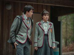 Asa Butterfield as Otis Milburn and Emma Mackey as Maeve Wiley (Netflix/PA)