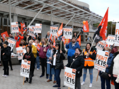 Care workers were given a pay rise earlier this month to £10.02, but unions claim this is not enough (GMB/PA)