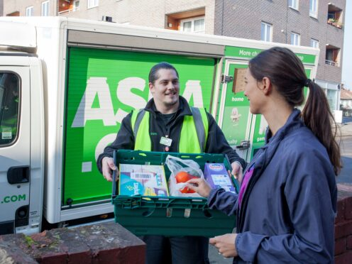 Asda is rolling out its one-hour delivery service to 96 stores (Asda/PA)