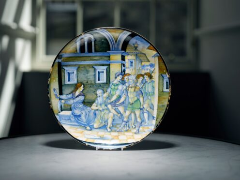 A rare 16th century dish from the collection of a country house in the Scottish Borders sold on Wednesday for more than £1m at auction (Lyon & Turnbull)