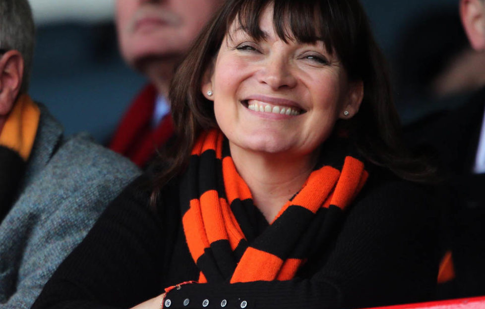 Lorraine is a great supporter of her local football team, Dundee United