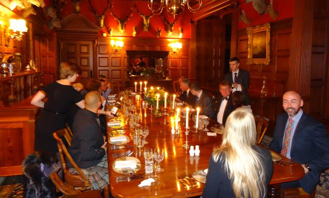 Dinner at Mar Lodge