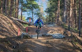 Champion cyclist Lee Craigie tackles the trails at Glenlivet
