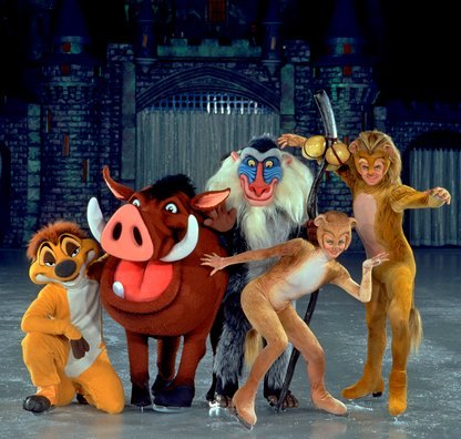 The stars of the Lion King take to the ice for Disney on Ice