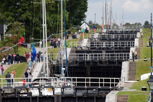 Neptune's Staircase, The Caledonian Canal