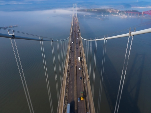 Forth Road Bridge - the view from the top of one of the towers