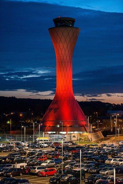 Edinburgh Airport's Air Traffic Control Tower