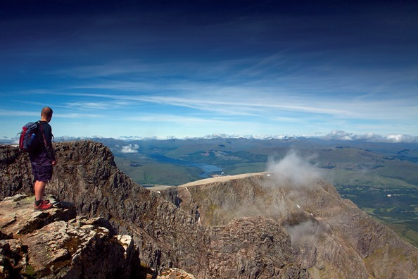 A photo taken by Keith from Ben Nevis, looking across to the Cuillins on Skye. Photo copyright Keith Fergus