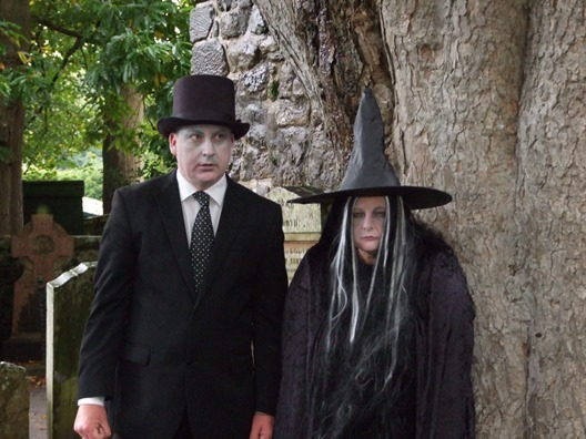You never know who you might meet at Alloween at the Robert Burns Birthplace Museum in Alloa