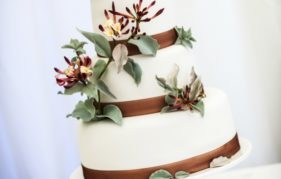 One of Sonna's stunning wedding cakes. Photography by ImacImages Photography