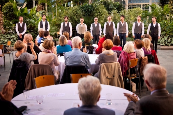 Scozzesi's debut concert in The Winter Gardens, Glasgow. Photo by Robin Mitchell