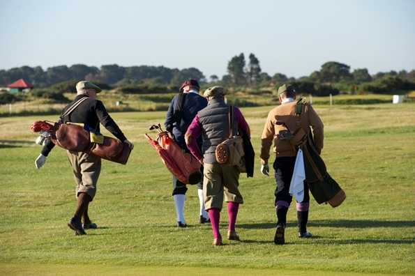 Hickory golfers competing in the World Hickory Open. Photo courtesy of www.CarnoustieCountry.com