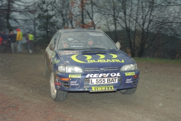 Colin McRae at a rally. Photo by Writtle Photographic