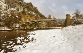 The Telford Bridge across The Spey at Craigellachie