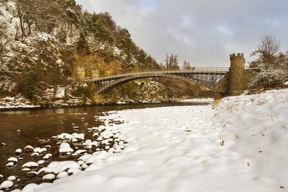 The Telford Bridge across The Spey at Craigellachie