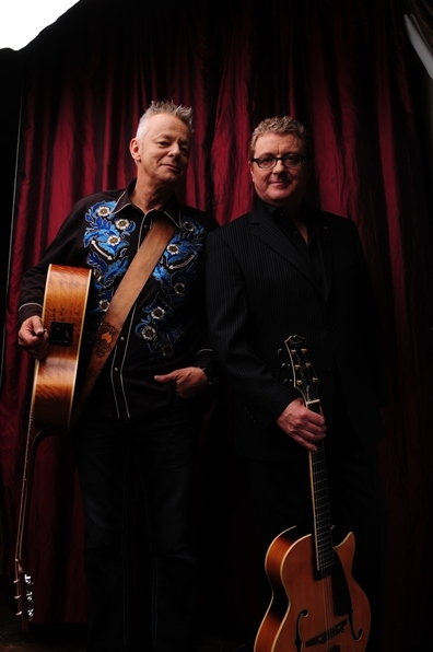 Martin Taylor and Tommy Emmanuel, two of the guitar heroes at this week's Shetland International Guitar Festival