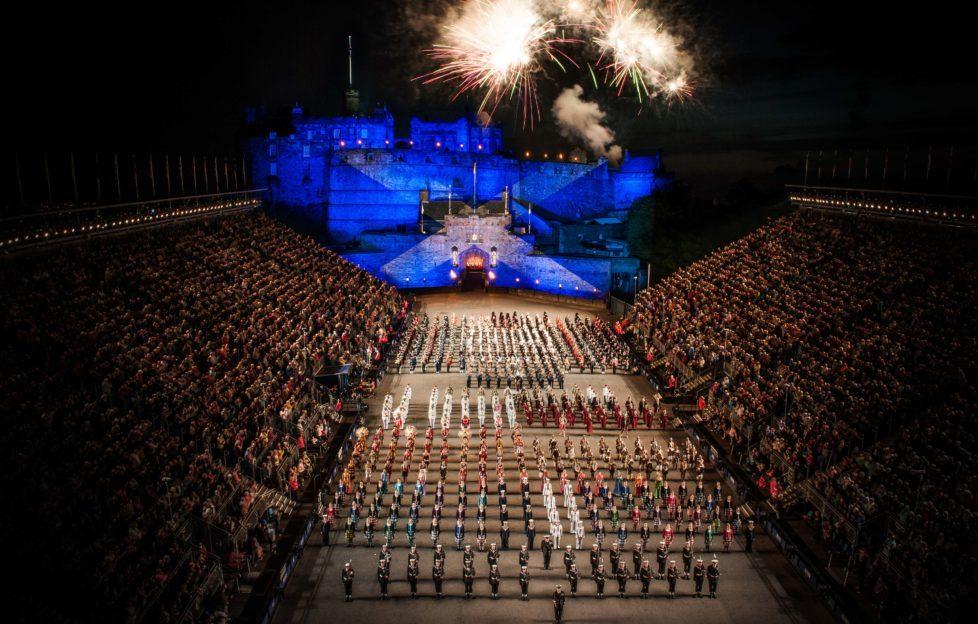 The spectacular finale of the 2014 Royal Edinburgh Military Tattoo. Photo copyright Royal Edinburgh Military Tattoo