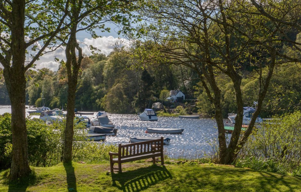 Idyllic Balmaha Bay, where the Tom Weir statue will be situated.