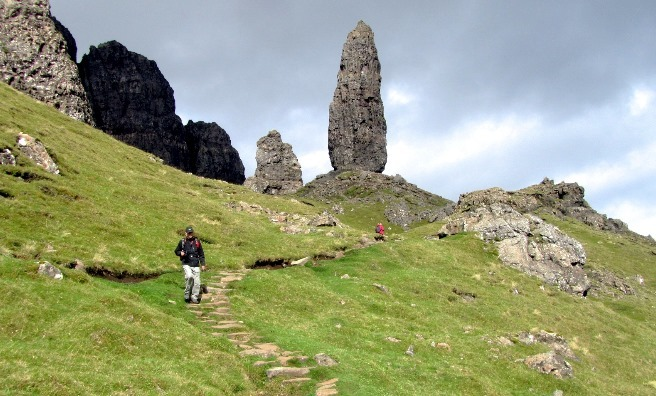 The path leading up to the Old Man of Storr. www.isleofskye.com
