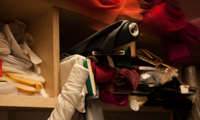 A few of the materials required for Scottish Ballet's costumes. Photo by Upfront Photography