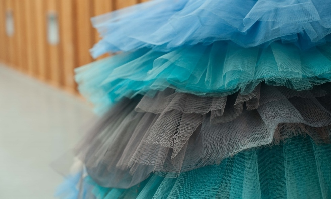 Tutus in all shades of blue. Photo by Upfront Photography