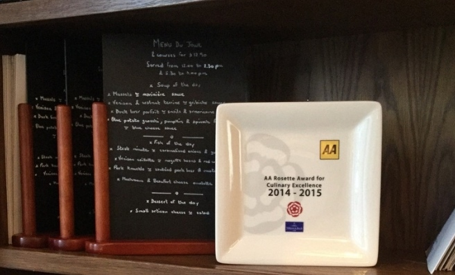 In pride of place - L'escargot bleu's AA Rosette